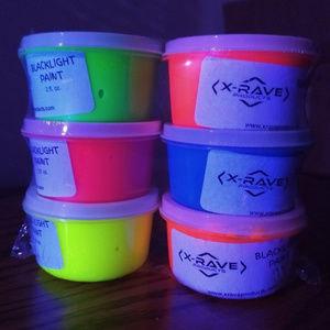 X-Rave Products Makeup - BLACKLIGHT BODY PAINT 1oz - RAVE NEON ART PARTY UV